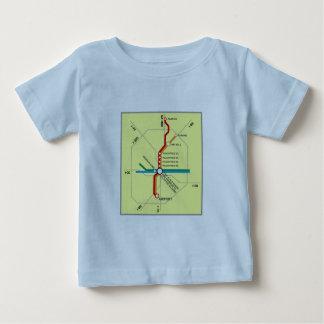 Nützliche Atlanta-Untergrundbahn-Karte Baby T-shirt