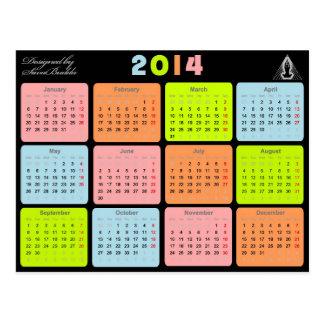 Nützliches Geschenk mit Kalender für 2014 Postkarte
