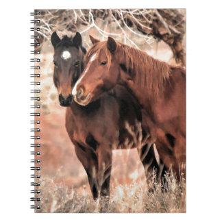 Nuzzling Pferde Notizblock