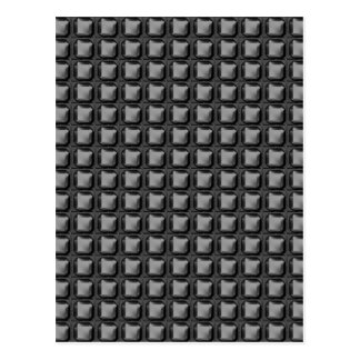 NVN4 schwarze Quadrat-Rect Kunst durch NavinJOSHI Postkarten