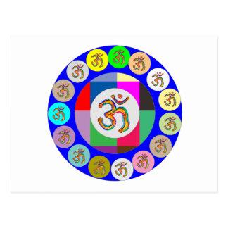 nvn94 OM Beschwörungsformel-Gesang-Yoga-Meditation Postkarten