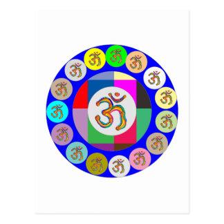 nvn94 OM Beschwörungsformel-Gesang-Yoga-Meditation Postkarte