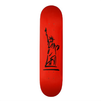 NY Dame Liberty Red 20,1 Cm Skateboard Deck