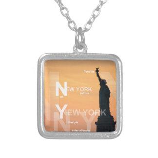 ny Freiheitsstatue New York City USA Versilberte Kette