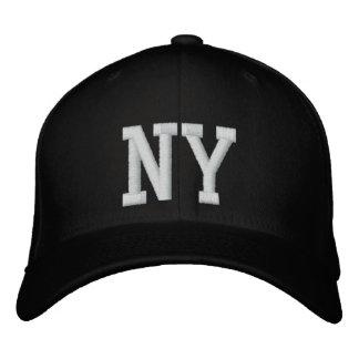 NY kundenspezifische Kappe - Schwarzweiss Bestickte Kappen