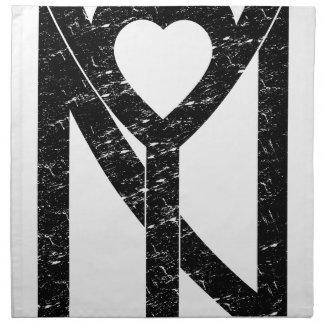 NY New York Liebe Serviette