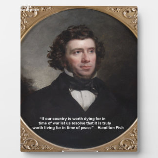 NY reg. Hamilton Fisch-Klugheits-Zitat-Geschenke u Fotoplatte