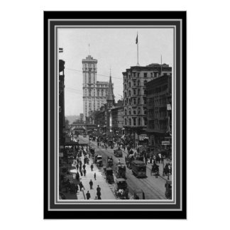 NYC 1910 Vintages B&W Foto 13 x 19 Poster