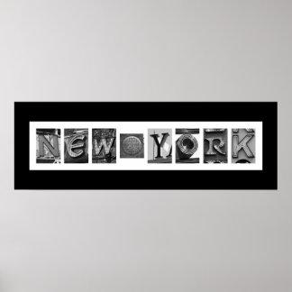 NYC Architekturtypographie Poster