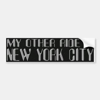 NYC AUTOAUFKLEBER