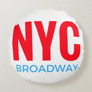 NYC Broadway Rundes Kissen