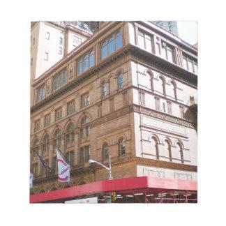 NYC Carnegie Hall Notizblock