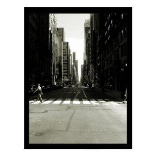 NYC Crosswalk Postkarte
