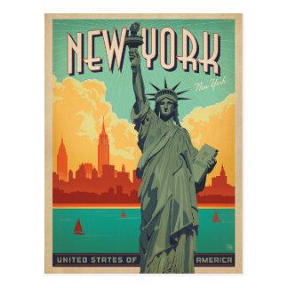 NYC - Dame Liberty Postkarte