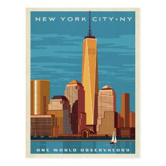 NYC - Ein Weltobservatorium Postkarte