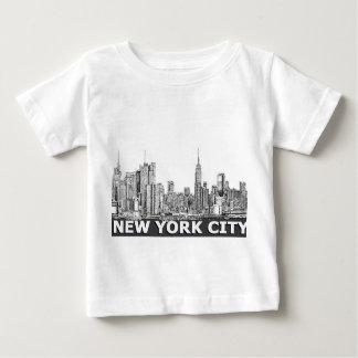 NYC einfarbiger Skylinetext Baby T-shirt