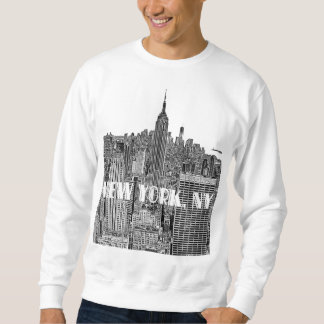 NYC geätzte Blick-Skyline von oben Sweatshirt