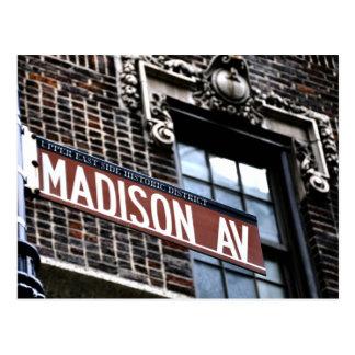 NYC Madison Allee Postkarte