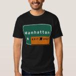NYC Manhattan Ausgangs-Autobahn-Autobahn-Straße T-Shirts