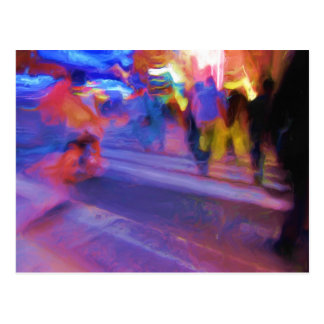 NYC Nacht abstrakt Postkarte