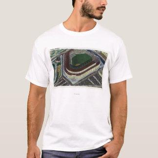 NYC, neue YorkAerial Ansicht des Yankee Stadium T-Shirt