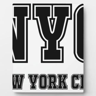 NYC New York City Fotoplatte