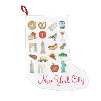 NYC New York City Ikonen-Symbol-WeihnachtsStrumpf Kleiner Weihnachtsstrumpf