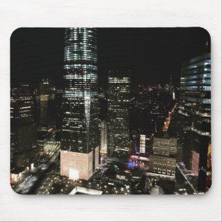 NYC New York City NachtSkyline-Architektur-Licht Mousepads
