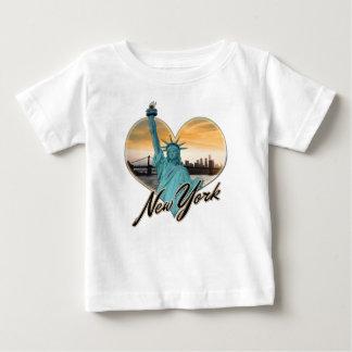 NYC New York City Skyline-Andenken-Dame Liberty Baby T-shirt