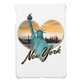NYC New York City Skyline-Andenken-Dame Liberty iPad Mini Hülle