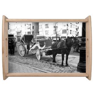 NYC Pferde-und Wagen-Central Park-Geschenke Tablett
