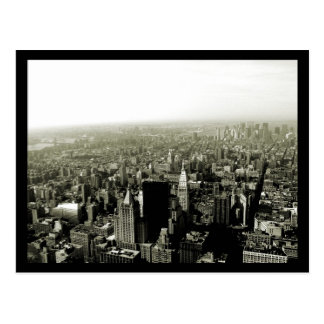 NYC Reich-Staats-Ansicht B&W Postkarte