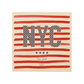 NYC | Rot-, weißer u. Blauerentwurf Holzwanddeko