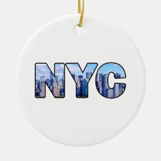 NYC RUNDES KERAMIK ORNAMENT