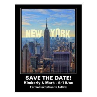 NYC Skyline ESB 2 Hwd Save the Date Postkarte
