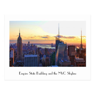 NYC Skyline: ESB, Bank of Amerika, 4mal Postkarte