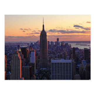 NYC Skyline kurz vor Sonnenuntergang Postkarte