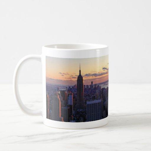 NYC Skyline kurz vor Sonnenuntergang Kaffeehaferl