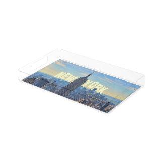 NYC Skyline-Reich-Staats-Gebäude-Welthandel 2C L Acryl Tablett