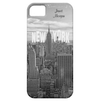 NYC Skyline-Reich-Staats-Gebäude, Wld Trd BW 2C2 iPhone 5 Etuis