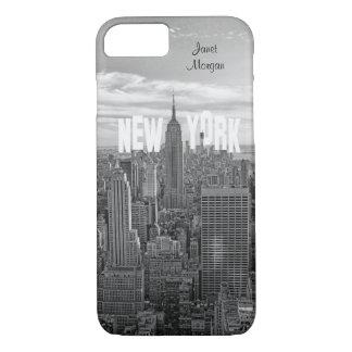 NYC Skyline-Reich-Staats-Gebäude, Wld Trd BW 2C2 iPhone 8/7 Hülle