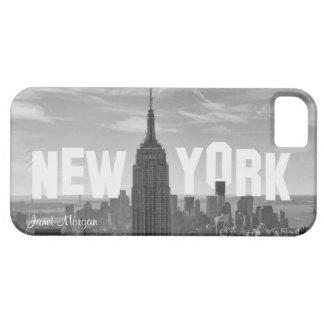 NYC Skyline-Reich-Staats-Gebäude, Wld Trd BW 2CH2 iPhone 5 Etuis