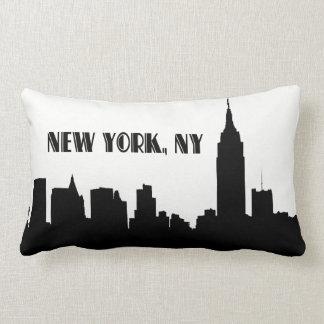 NYC Skyline-Silhouette, ESB #1 Lendenkissen