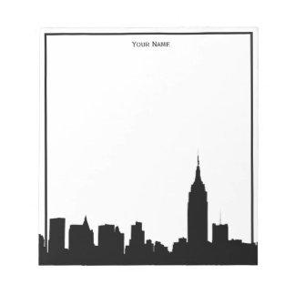 NYC Skyline-Silhouette gerahmt Notizblock