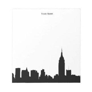 NYC Skyline-Silhouette Notizblock
