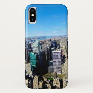 NYC Stadt-Ansicht vom Reich-Staats-Gebäude iPhone X Hülle