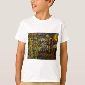 NYC sternenklare Nacht: Twin Tower (die wahren T-Shirt