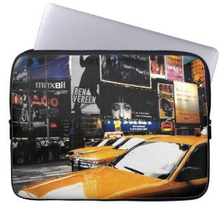 NYC Taxi-Zeit-Quadrat-Computer-Hülsen-Kasten Laptopschutzhülle