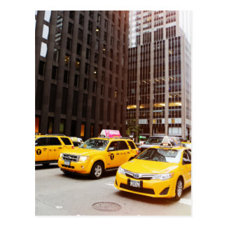 NYC Taxis in New York Postkarte