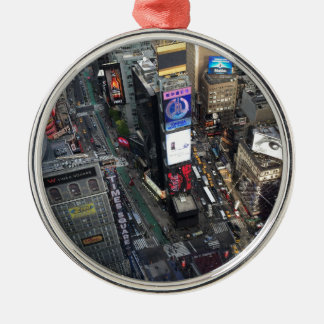 NYC Times Square Silbernes Ornament